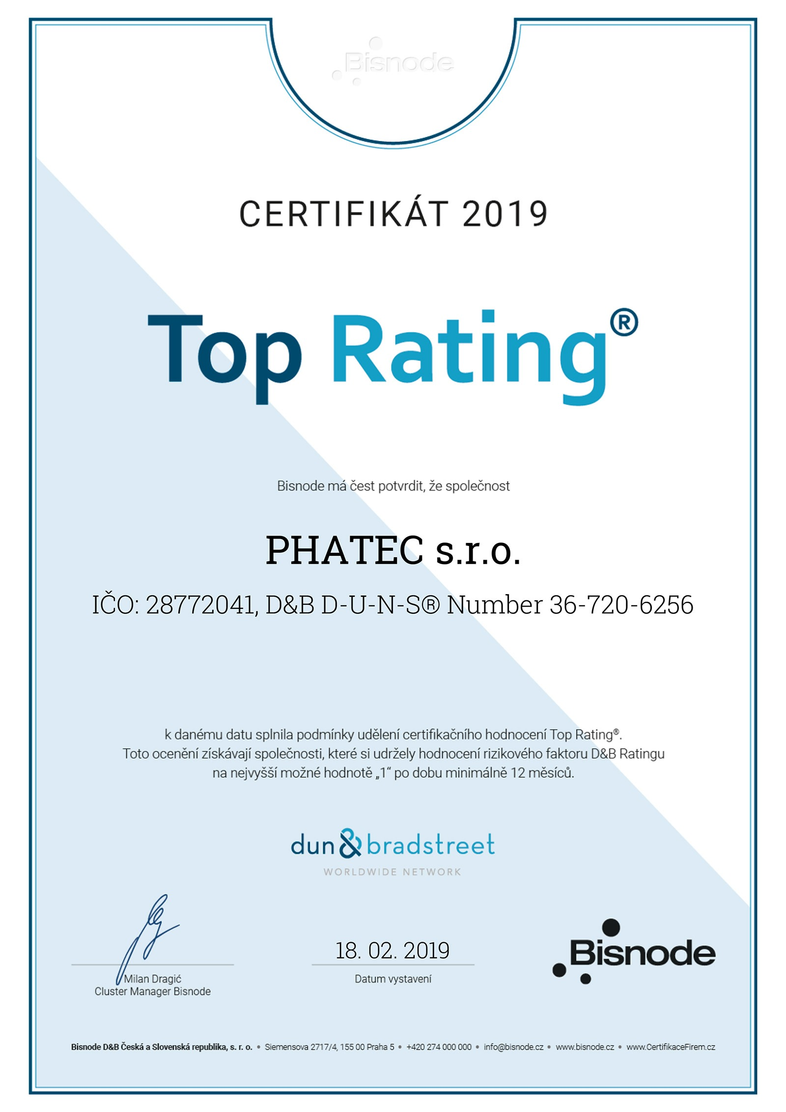 5425a8d84ae7 Certifikát Phatec – Top Rating
